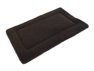 Brown Quilted Fleece Bed  Dog Pad