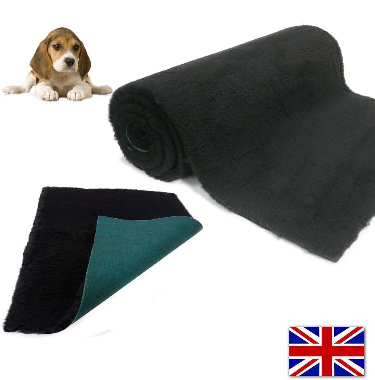 Traditional Black Vet Bedding ROLL WHELPING FLEECE DOG PUPPY PRO BED