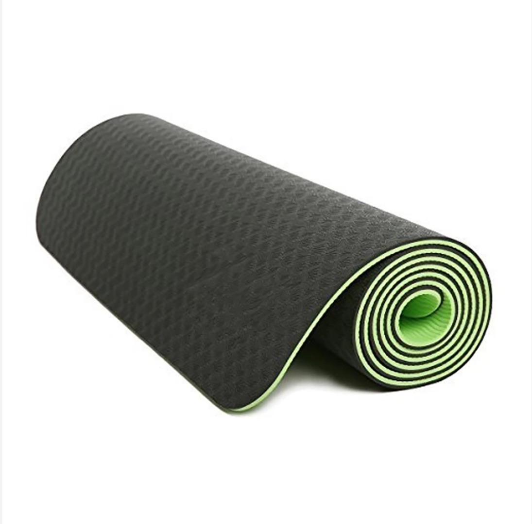 Light Green Eco-friendly TPE yoga mat's Thick Exercise Fitness Physio Pilates Gym Mats