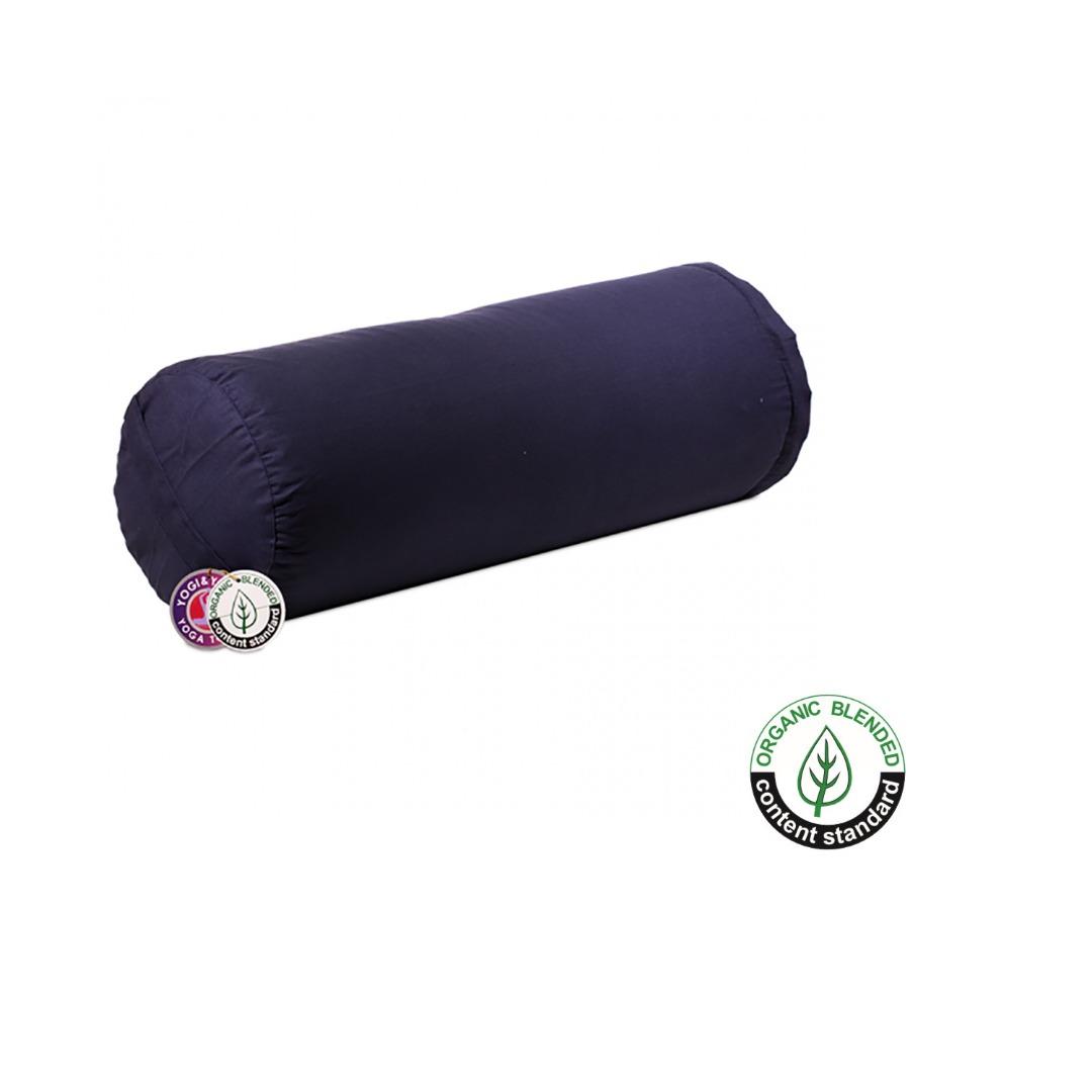 Size 60cm x 20cm Purple Cylinder Bolster Cushion