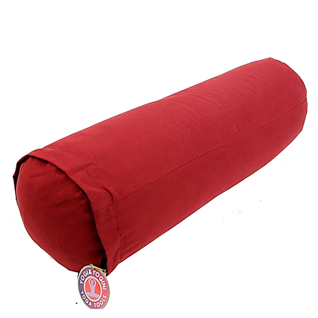 Red Cylinder Bolster Cushion, Size 60cm x 20cm