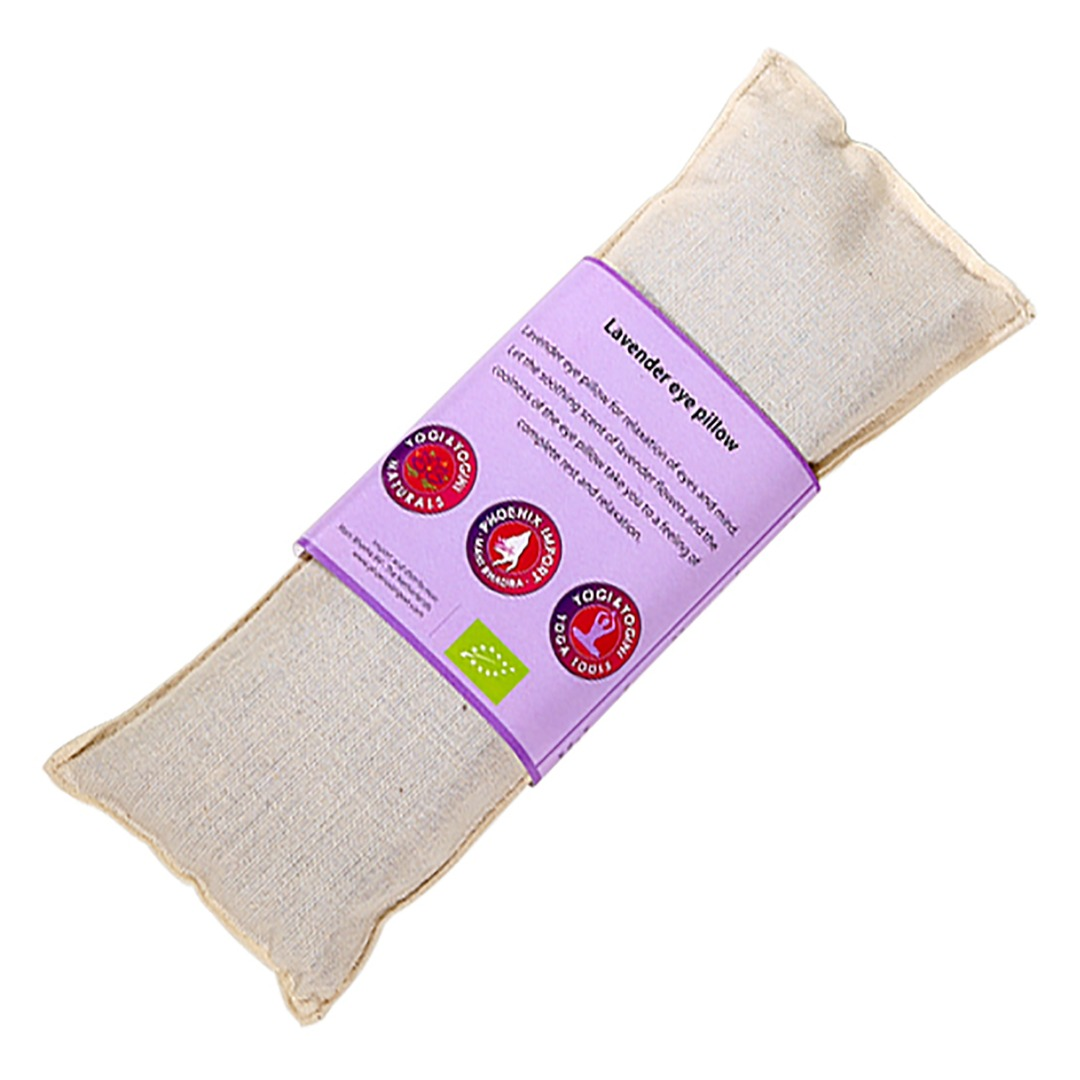 Natural Lavender Eye Pillow, Organic Cotton. Size 22cm x 8cm