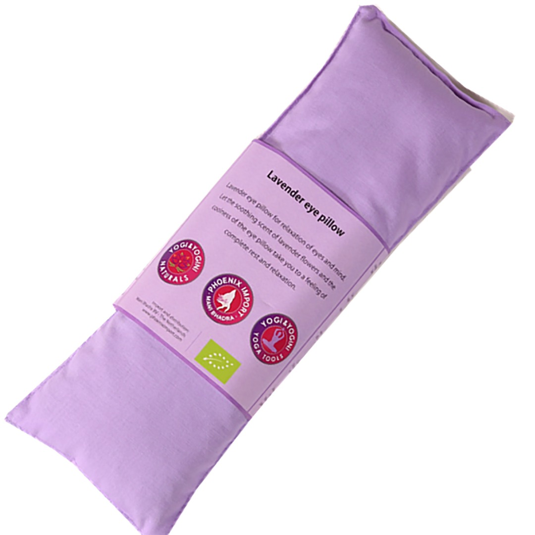 Lilac Lavender Eye Pillow, Organic Cotton. Size 22cm x 8cm