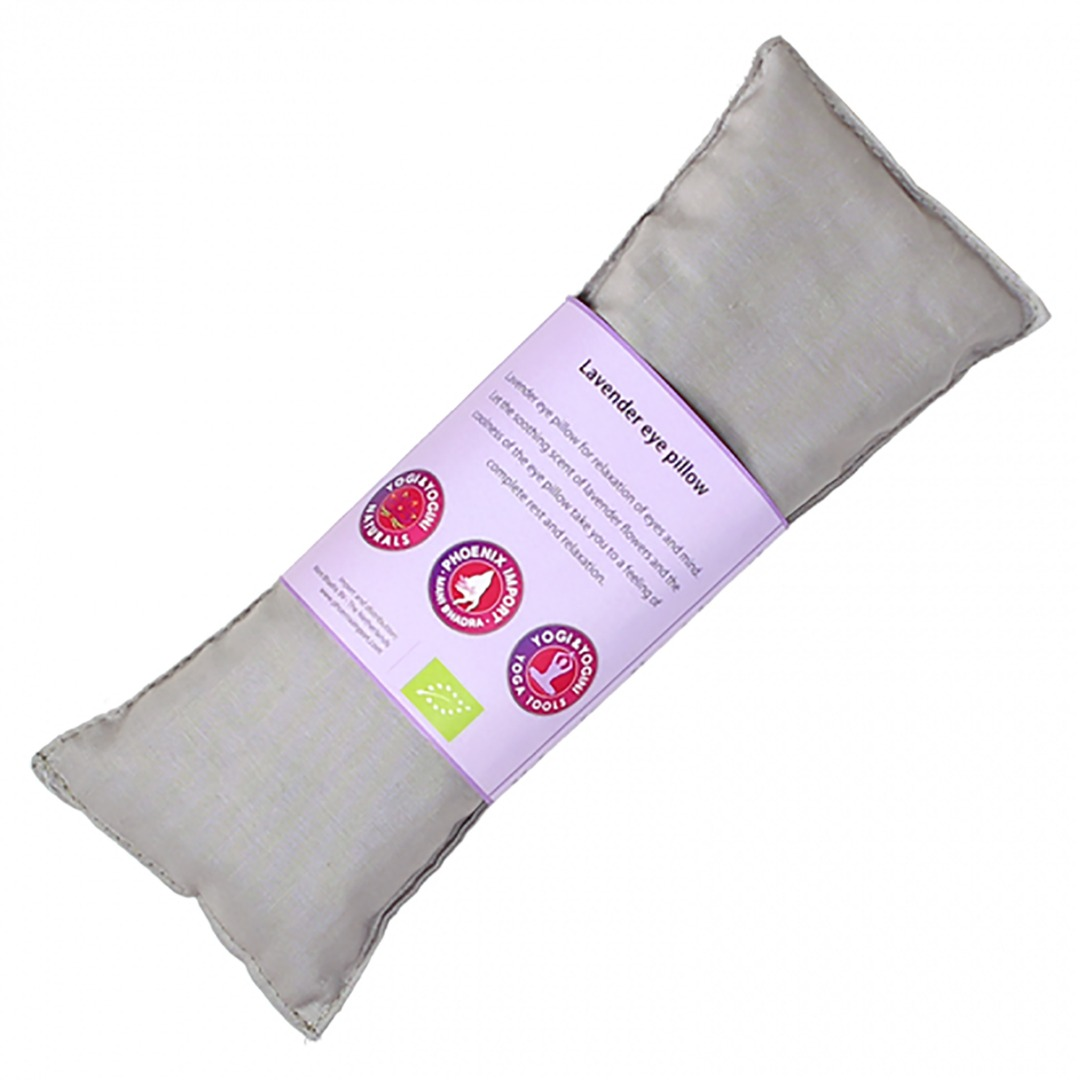 Taupe Lavender Eye Pillow, Organic Cotton. Size 22cm x 8cm