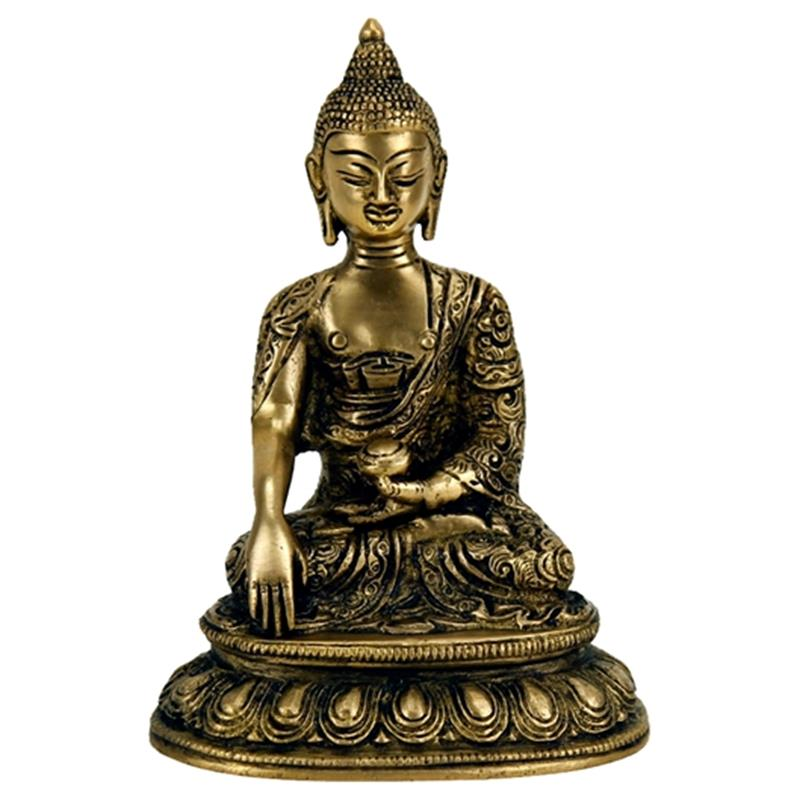 Buddha Shakyamuni statue single colour  Brass