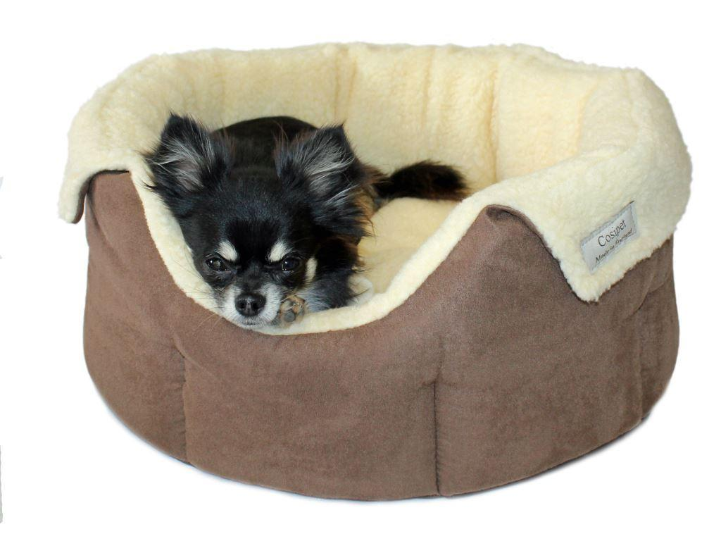 Luxury Chelsea Deep Style Slumbernest Dog Bed Chocolate Brown