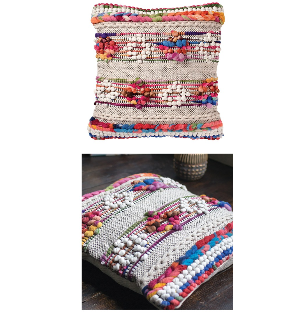 Fair Trade Cotton and Fleece Recycled Sikri Diamond Complete Cushion