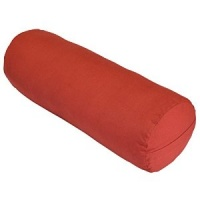Red Yoga Bolster Cushion 100% Cotton