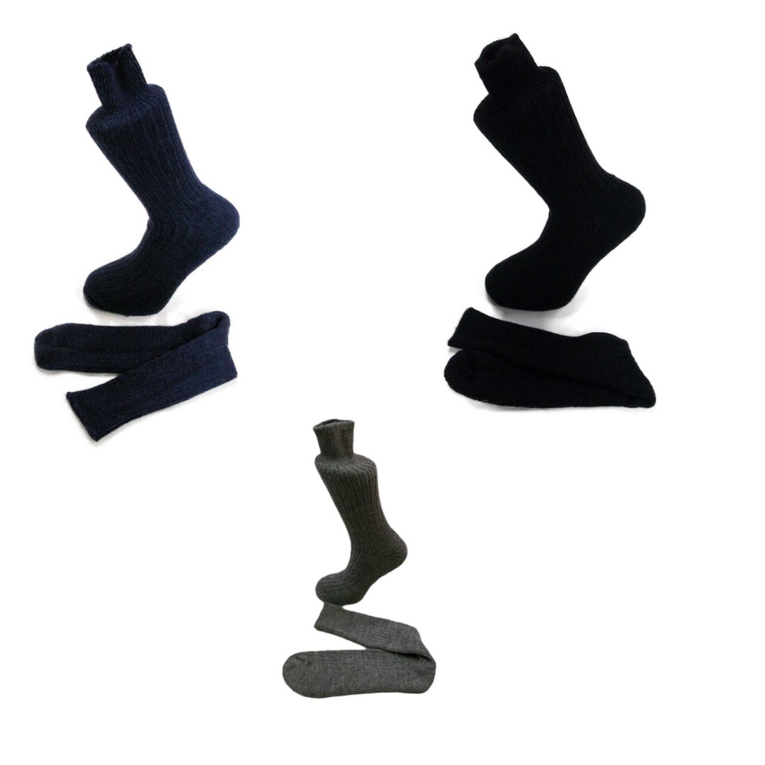 3 pairs of Alpaca Walking Socks, Cushioned Sole,  75% Alpaca Wool. Alpaca Sock<br><br> Gift Idea E