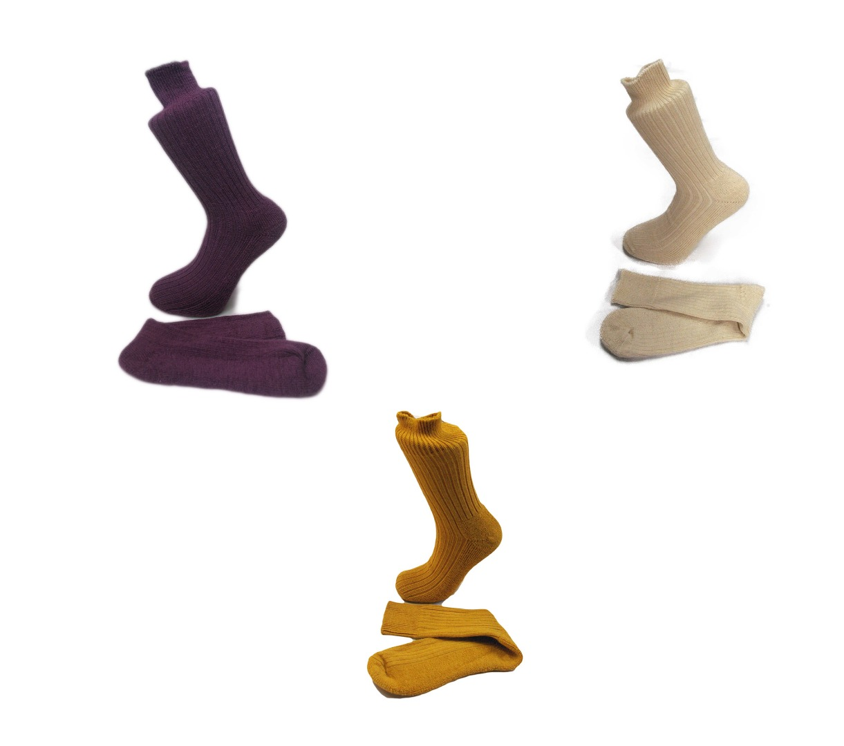 3 Pairs of Alpaca Walking Socks, Cushioned Sole, 75% Alpaca Wool. Alpaca Sock <br><br>Gift Idea F
