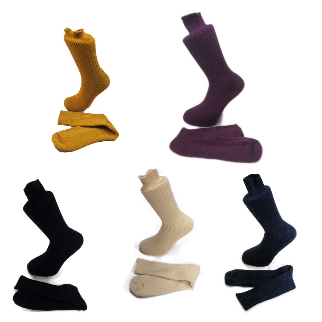 5 pairs of Alpaca Walking Socks, Cushioned Sole, 75% Alpaca Wool. Alpaca Sock <br><br>Gift Idea H