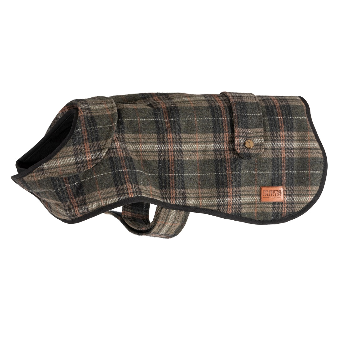 Heritage Green Check Tartan Dog Coat