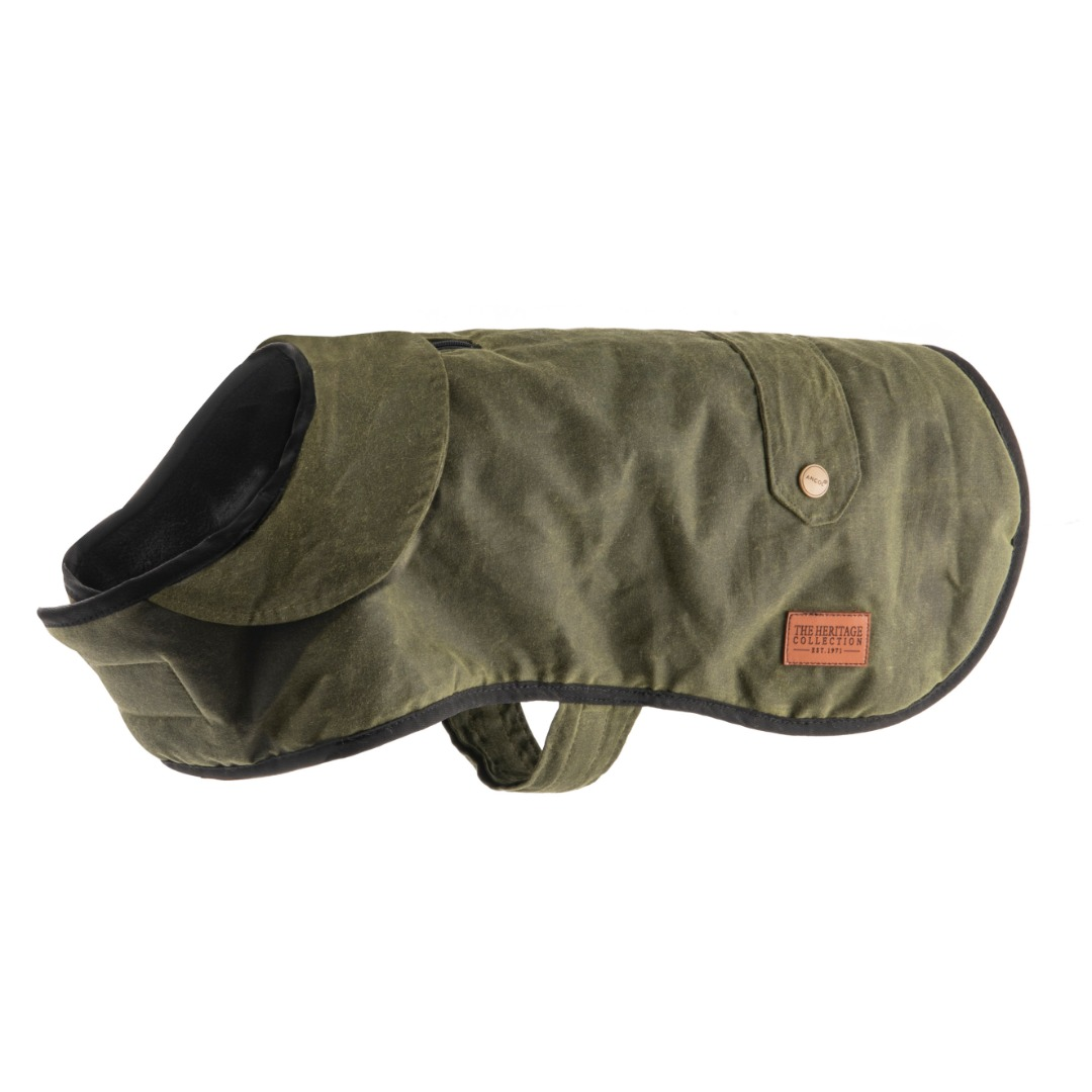 Heritage Green Wax  Dog Coat