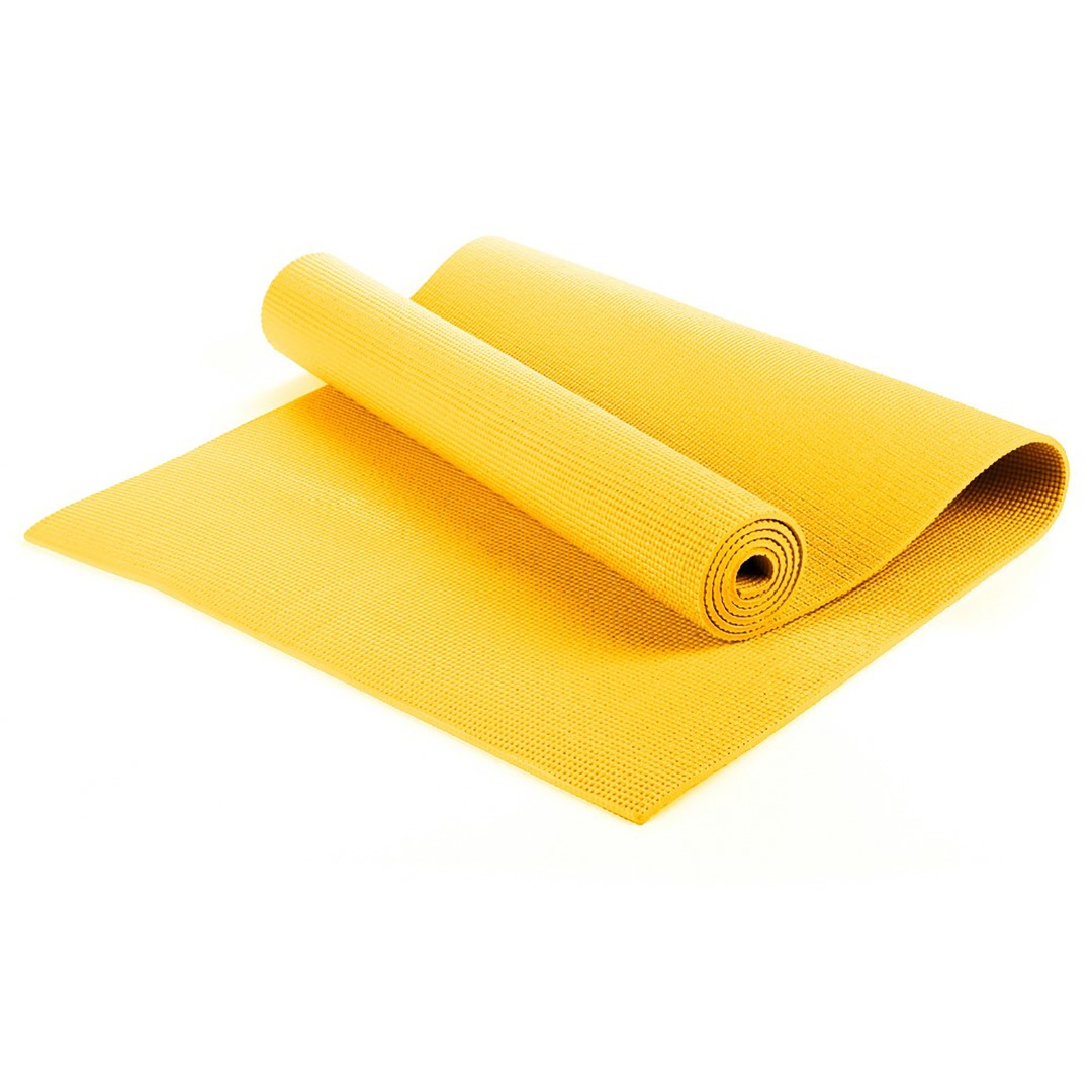 Yellow yoga mat, Exercise Fitness, Physio Pilates  6mm PVC  183CM X 61CM