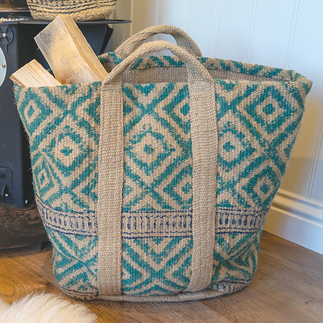 Log or Laundry Storage Bag 100% sustainable Jute Handmade in India