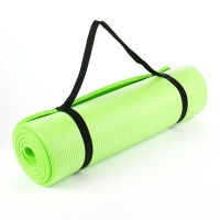 Lime Green NBR 15mm Thick Exercise Fitness Gym Yoga Mat 190cm x 60cm