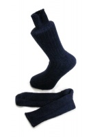 Navy Blue Alpaca walking socks Thick Socks 75% Alpaca wool. Walking, climbing, hiking