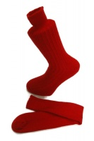 Red  Alpaca walking socks Thick Socks 75% Alpaca wool. Walking, climbing, hiking