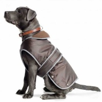Ancol Muddy Paws Stormguard Chocolate Brown,  Waterproof Fleece Lined Dog Coat