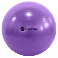65cm PURPLE Anti Burst Exercise Fitness Yoga Ball for GYM Pilates  with FREE PUMP. New in Retail Box.