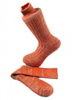 Combed Cotton Fleck Design Sock  Mandarin