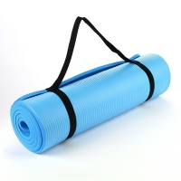 NBR Light Blue 15mm Thick Exercise Fitness Gym Yoga Mat 190cm x 60cm