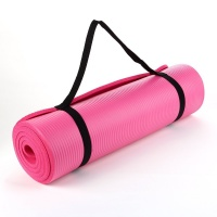 Pink NBR 15mm Thick Exercise Fitness Gym Yoga Mat 190cm x 60cm