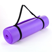Purple NBR 15mm Thick Exercise Fitness Gym Yoga Mat 190cm x 60cm