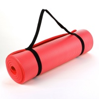 Red NBR 15mm Thick Exercise Fitness Gym Yoga Mat 190cm x 60cm