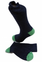 The Alpaca Every Day Heel and Toe Contrast Socks Navy/Pea