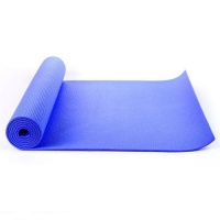 Blue yoga mat, Exercise Fitness, Physio Pilates 6mm PVC 183CM X 61CM