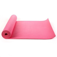 Pink yoga mat, Exercise Fitness, Physio Pilates 6mm PVC 183CM X 61CM