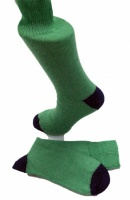 The Alpaca Every Day Heel and Toe Contrast Socks Pea/Navy