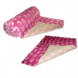 Pink White Paws Vet Bedding NON-SLIP ROLL WHELPING FLEECE DOG PUPPY PRO BED