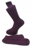 Plum Alpaca walking socks Thick Socks 75% Alpaca wool. Walking, climbing, hiking