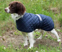 Showerproof Tartan Lined Safety Dog Anorak Coat
