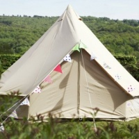 Sandstone Bell Tent  4 Metre  4 Person ZIP In GROUND SHEET