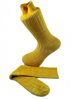 Combed Cotton Fleck Design Sock  Marigold
