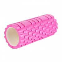 Pink Yoga Foam EVA Roller Exercise Trigger Point GYM Pilates Texture Physio MASSAGE