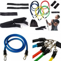 Resistance Bands Set 12 Piece Exercise Kit For Abs / Yoga / Travel / Workout